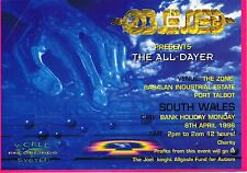 OBSESSED Rave Flyer Flyers 8/4/96 A5 The Zone Port Talbot Bagalan Industrial Est
