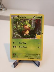 Pokemon McDonalds 25th Anniversary 2021 - Chespin 6/25 Holo Rare NM/M