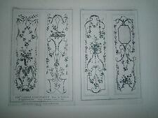 Planche gravure Cahier d'ornement pour la boiserie d'appartements par Ranson