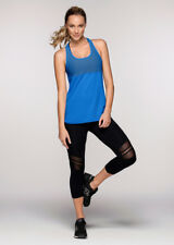 Lorna Jane Whitney Excel Tank Blue Size L UK 14 rrp £56 DH089 BB 24