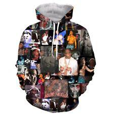 Rapper Tupac 2Pac Ra3D print Hoodie Mens Womens Casual Sweatshirt Pullovers Tops