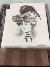 New La Blanche Silicone Rubber Stamp Lady In Hat new vintage stock