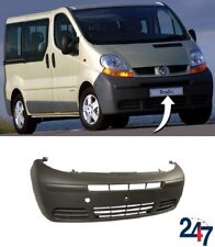 NEW RENAULT TRAFIC 2001 - 2006 BLACK FRONT BUMPER WITHOUT FOG LIGHT HOLES