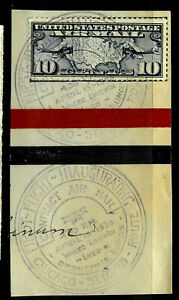 """First Flight Chicago-St Louis 1929"" CDS Town Date Fancy Cancel 3 Cent US 34B12"