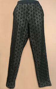 Pantalon 7/8 dentelle noir Marc by Marc Jacobs, taille M, TBE