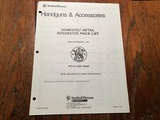 1980 Smith and Wesson Handguns and Accessories Dealer Retail Price List
