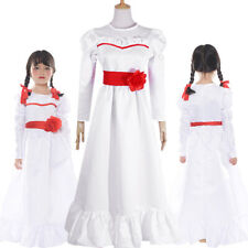 The Conjuring Annabelle Doll Cosplay Costume Halloween Women Kid Girl Dress Suit
