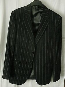 """NEW Paul Smith LONDON Collection Black Pinstripe Wool Formal Jacket  Size 42"""""""