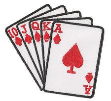 Patch écusson patche thermocollant Poker suite cartes