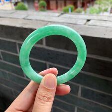 Chinese Emerald 100% Natural Icy Green Jade Jadeite Bracelet《Grade A》023