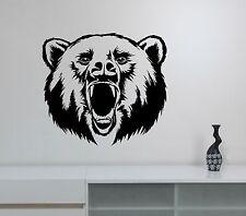 Bear Wall Sticker Animal Head Vinyl Decal Nature Art Room Wildlife Decor br7