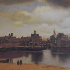 Reproduction lithographie peinture J. VERMEER 1932-1975 vue de Delft N°31
