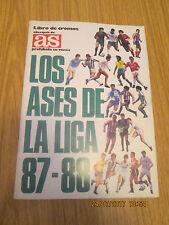 ALBUM LOS ASES DE LA LIGA 87-88. Diario As. Año 1987. En buen estado.