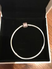 Authentic Pandora Signature Fancy Pink 7.9 Bracelet Retail $80 NWT