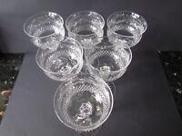 STUART CRYSTAL BEACONSFIELD VINTAGE SET OF SIX HOCK WINE GLASSES (Ref3099)