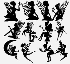 "##02 (12 Mixed) 3"" FAIRY Die cut Embellishments 4 Scrapbook Crafts Lantern Jars"