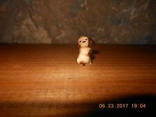 MINIATURE PUPPY FIGURINE, Porcelain Brown Puppy Dog