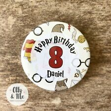 Harry Potter Inspired Personalised ANY Name/Age Birthday Badge Party Boy/Girl
