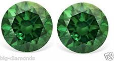 0.60 Carat VVS NATURAL REAL GREEN COLOR DIAMOND PAIR