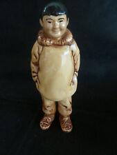 Eskimo Figure of Man  Handcrafted in AK Merritts Alaskan Crafts Clam Gulch