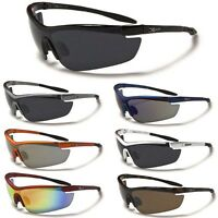 Mens Wrap Around Cycling Ski Baseball Sport Sunglasses Black Gray Orange Silver