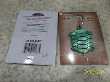 1 NIP Blue Moon Beads Natural Elegance Shell Pendant Green Turtle Silver Clasp