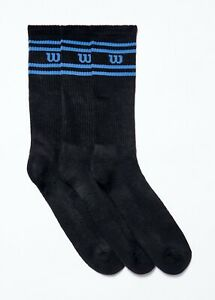 Mens 3 Pack Black Wilson Sports Socks Size 6-11