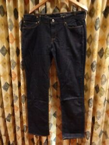 womens LEVI'S demi curve straight leg stretch denim jeans SZ 34-16