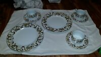 American Atelier Heavenly Hosts Dinnerware Dishes 2 Dinner Plates 3 Cups 3 Sauce