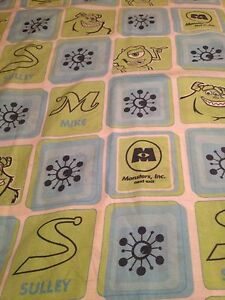 Disney Monsters Inc Twin Flat Sheet Only , Bedding/Fabric/Material