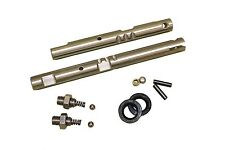 NP205 Stainless, twin-stick, shift rails, GM/Dodge, w/detent & install SR205GMDK
