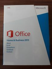 Microsoft Office 2013 Home and Business h&b/VERSIONE COMPLETA/inglese/PKC * NUOVO *