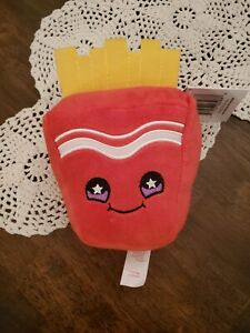 Snackeez Russ Frank Fries Cute Stuffed Smiling Plush Squish Fry Toy Beanie 🍟