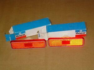 NOS MOPAR 3587440 REAR SIDE MARKER LAMP LENSES 1972 73 74 75 76 DODGE PLYMOUTH