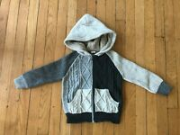 Baby Gap Boys 4T Cable Knit Sweater Hoodie Zipper Closure