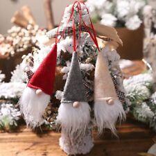 Christmas Ornaments DIY Xmas Gift Santa Claus Snowman Tree Happy New Year