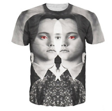 New Fashion Womens/Mens Wednesday Addams Funny 3D Print Casual T-Shirt JK144