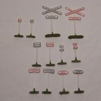 HO SCALE RAILROAD SIGNS TWELVE TOTAL