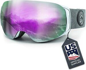 new Wildhorn Roca Kids Snowboard Ski Goggles Interchangeable Sapphire Lens white