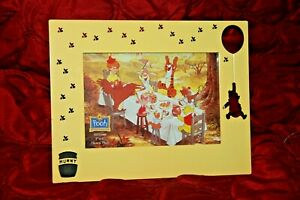 "Disney Winnie The Pooh Yellow Metal Photo Picture Frame  4"" x 6"" Graves Design"