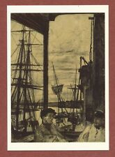 """J.McNeill Whistler     """"Rotherhithe  ( Wapping )  1860""""    etching        QT334"""