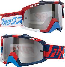 Fox AIRSPACE Motocross Mx Gafas divizion rojo / Azul Con Espejo extraíble AIRSPC
