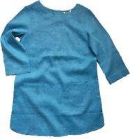BN Seasalt Carncrows linen Blend Blue & White Striped Tunic Dress Size 8/24