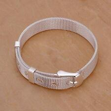 beautiful Fashion women lady new  silver watch style cute solid bracelet H237
