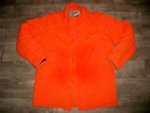 Vtg Field N Forest Birding Hunting Blaze Orange Upland Jacket Coat Men's Large