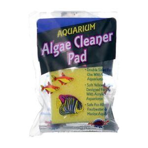 Blue Ribbon Algae Cleaner Pad 3 Inch Double Sided Soft Sponge & Stiff Sided