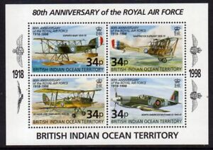 British Indian Ocean Terr. 1998 R.A.F. min. sheet fine fresh MNH