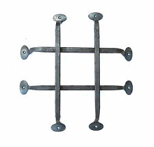 Hand Forged Front Door Grill Wrought Iron Rustic Blacksmith Metal Decor Bar Grid