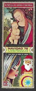 1972 - Equatorial Guinea Christmas Stamp Lucas Cranach 10p Used Mi#GQ 177