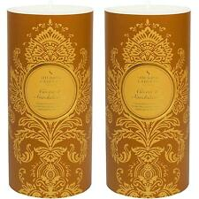 2 x Shearer Candles Scented Pillar Candle, Cocoa & Sandalwood - 100 Hours Burn